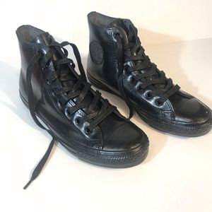 CONVERSE All STAR Patent Leather High Top Sneaker